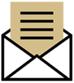 Envelope icon gold